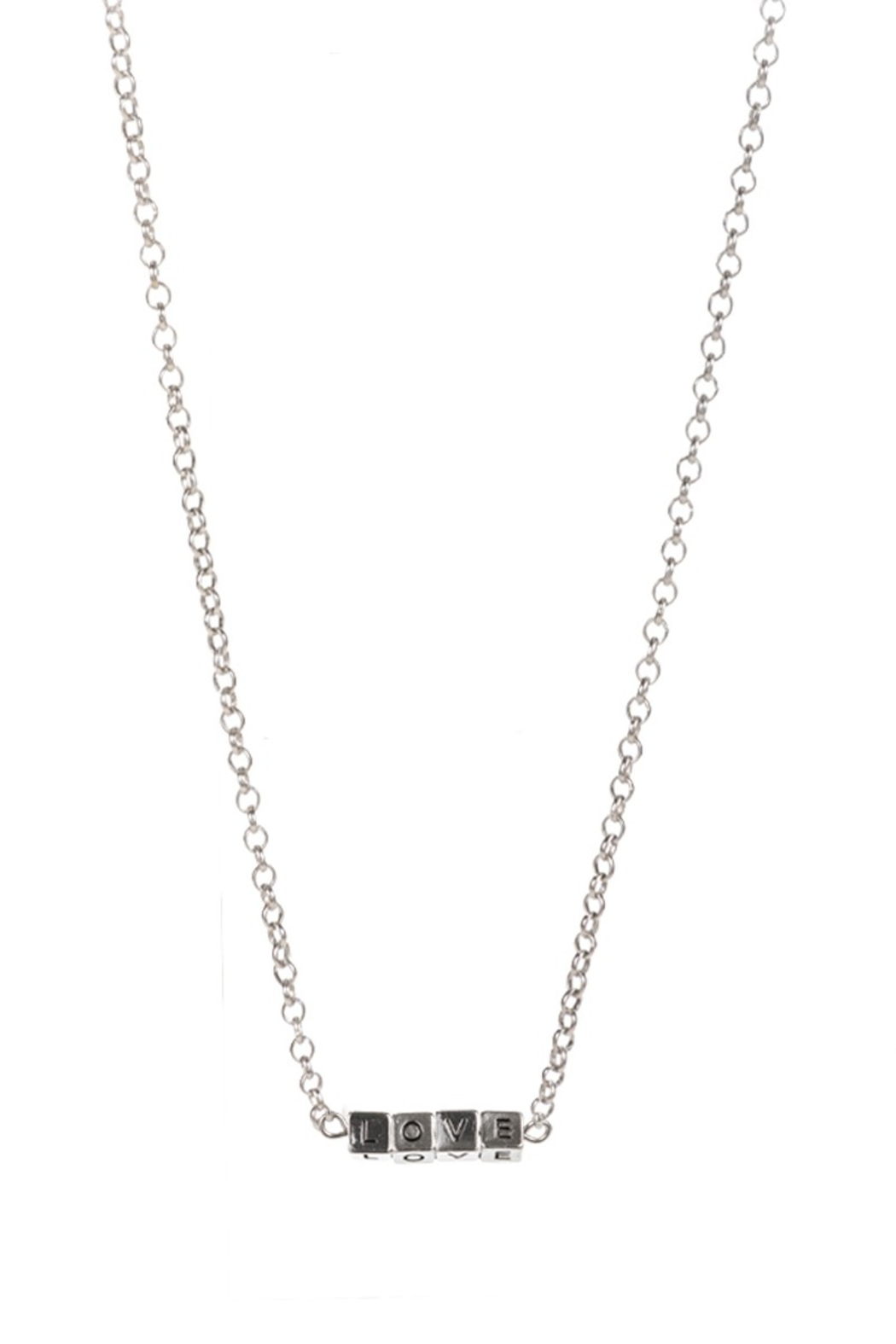 Fashion City LOVE Block Pendant Necklace - Side Cropped Image