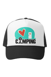 Grom Squad Love Camping Trucker Hat - Product Mini Image