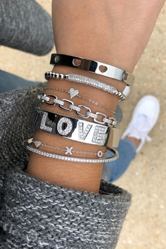 Lets Accessorize Love Cuff Bracelet - Alternate List Image