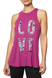 Betsey Johnson Love Graffiti Floral Tank - Product Mini Image