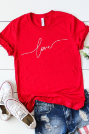 kissed Apparel Love Graphic T Shirt - Product Mini Image