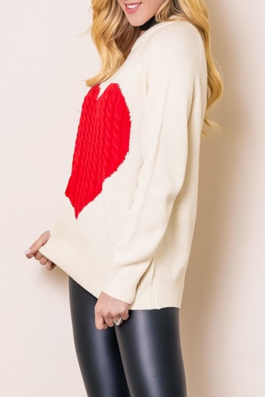 OC Avenue Love Heart Sweater - Front Full Image