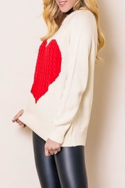 OC Avenue Love Heart Sweater - Front full body