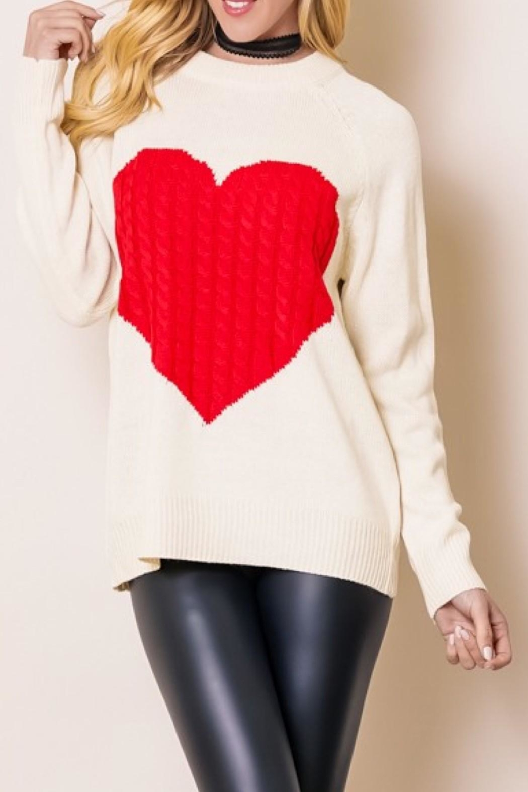 OC Avenue Love Heart Sweater - Main Image