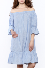 Love in  Stripe Off-Shoulder Dress - Product Mini Image