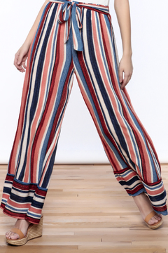 Love in  Resort Striped Tie Waist Pants - Product List Image