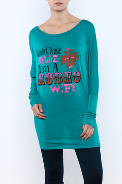 Shoptiques Product: Rodeo Wife Dolman Tunic