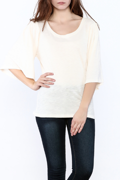 Love in  Solid Bell Sleeve Top - Product List Image