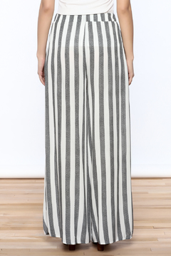 Love in  Ivory And Charcoal Stripe Pants - Alternate List Image