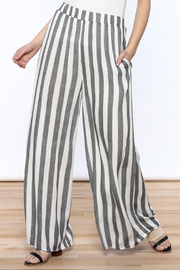 Love in  Ivory And Charcoal Stripe Pants - Product Mini Image