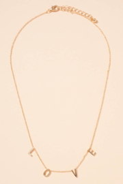 avenue zoe  LOVE Initials Charms Short Necklace - Product Mini Image