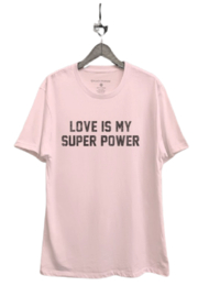 Black Sparrow Love Is My Superpower Tee - Front cropped