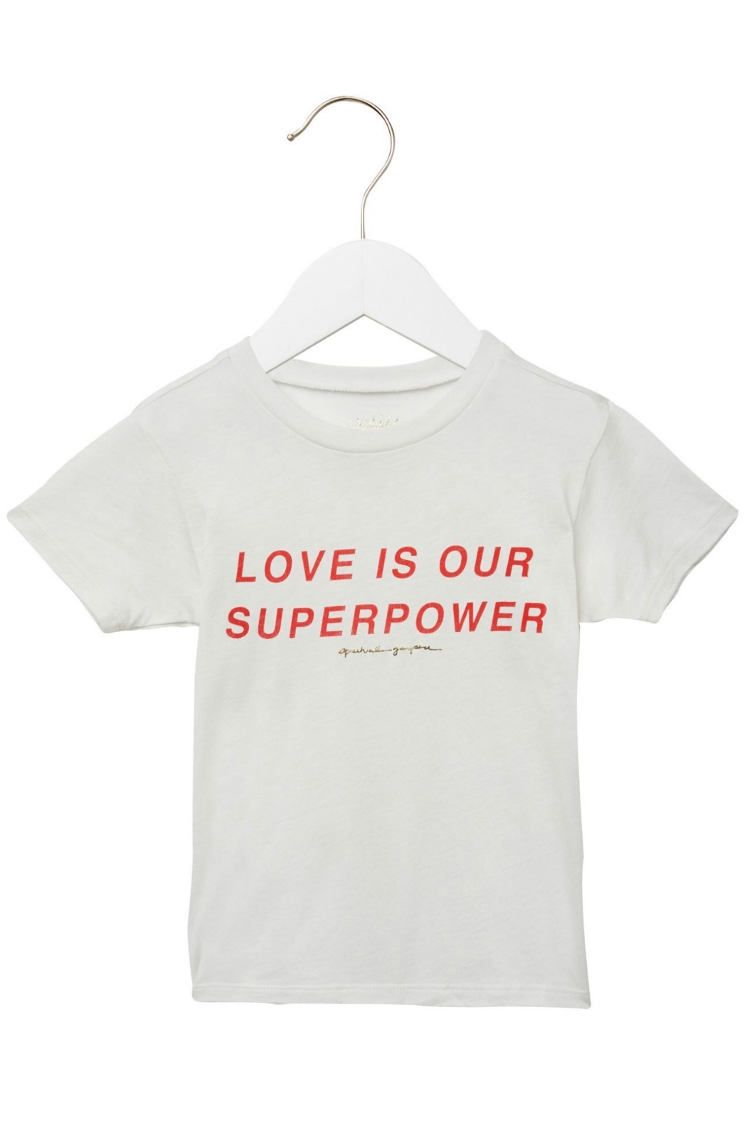 SPIRITUAL GANGSTER Love Is Superpower Tee - Main Image