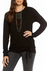 Chaser Love Knit Lace up Raglan Pullover - Product Mini Image