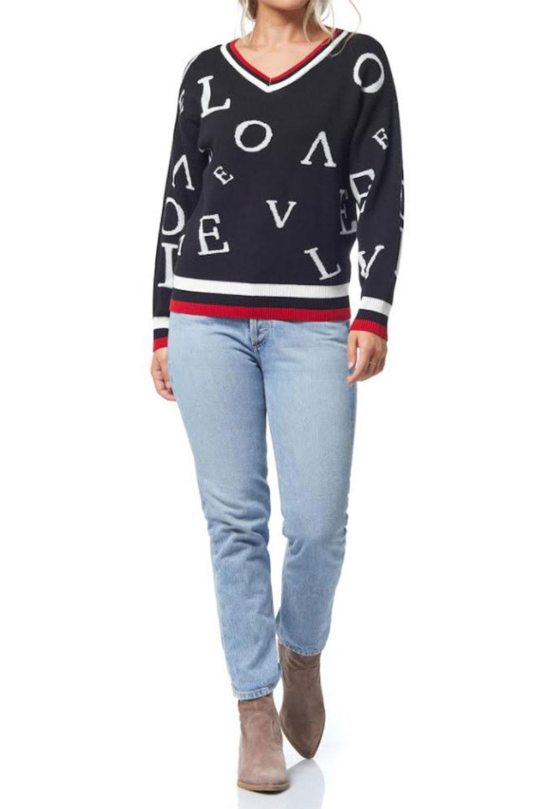 Olive & Vine LOVE Knit Sweater - Front Cropped Image