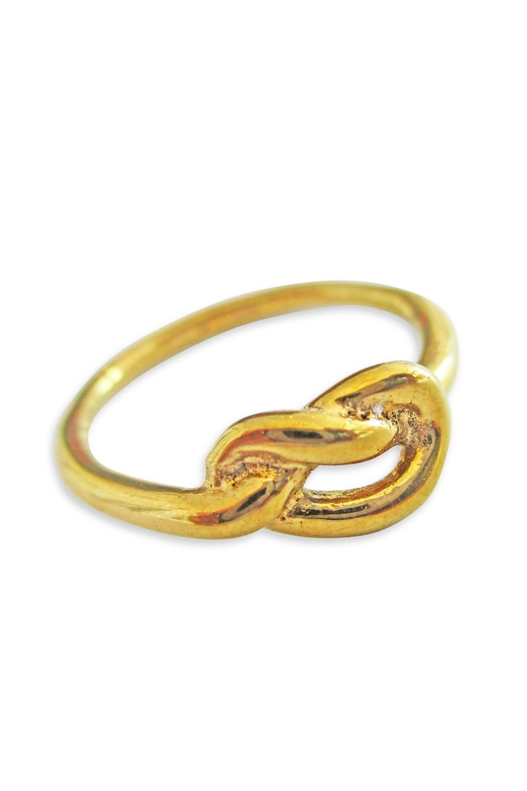 Malia Jewelry Love-Knot Goldplated Ring - Main Image