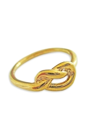 Malia Jewelry Love-Knot Goldplated Ring - Product Mini Image