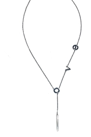 Lets Accessorize Love Lariat - Front cropped