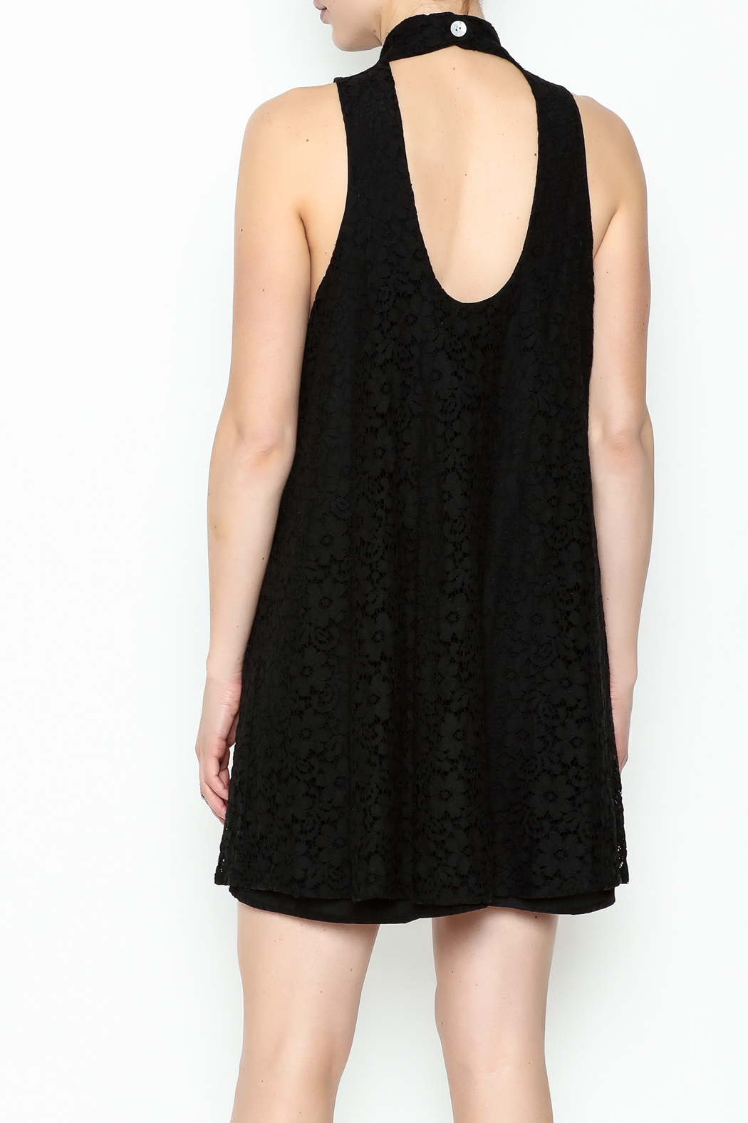 Love Lucy Mock Neck Dress - Back Cropped Image