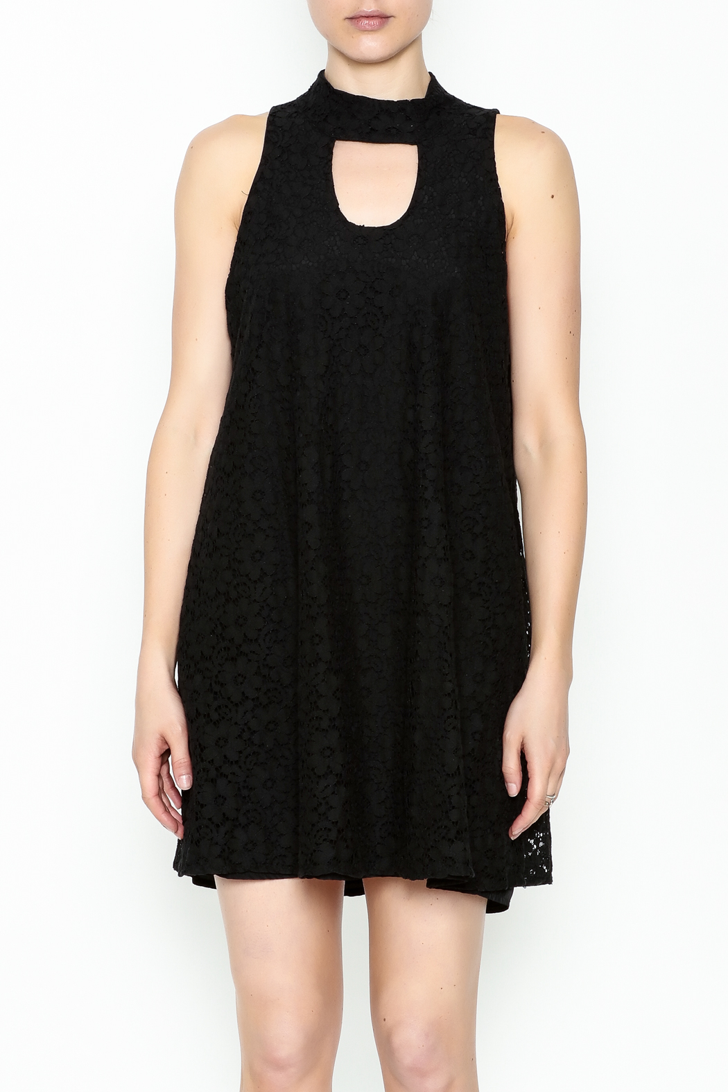 Love Lucy Mock Neck Dress - Front Cropped Image