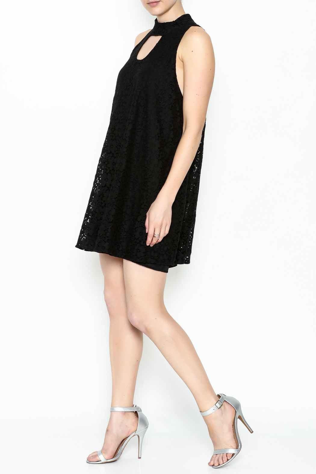 Love Lucy Mock Neck Dress - Side Cropped Image