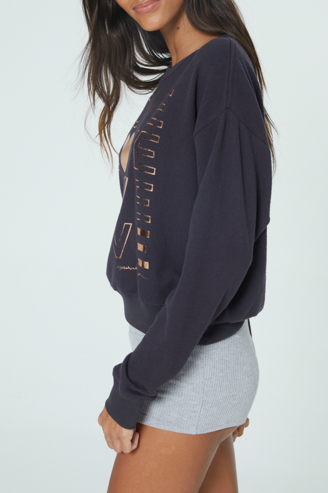 SPIRITUAL GANGSTER Love Malibu Crew Neck Pullover - Side Cropped Image
