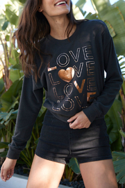 SPIRITUAL GANGSTER Love Malibu Crew Neck Pullover - Front cropped