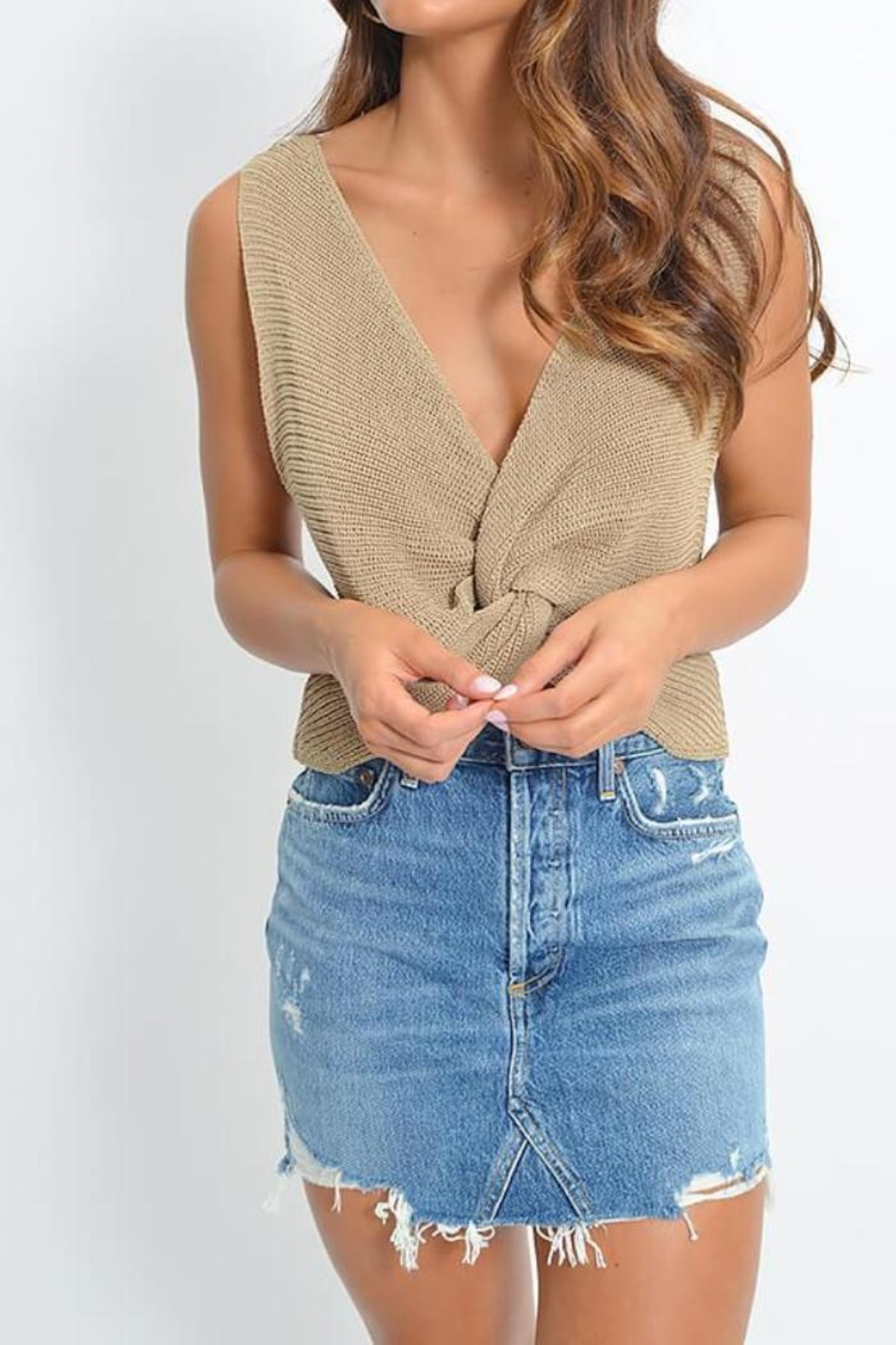 SAGE THE LABEL Love Me Tank - Front Cropped Image