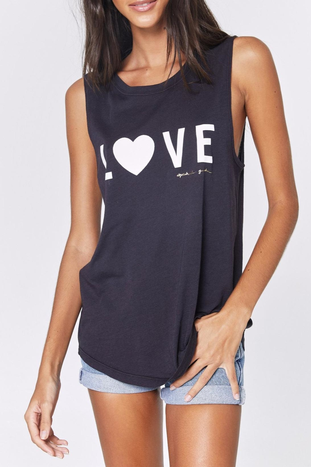 SPIRITUAL GANGSTER Love Muscle Tank - Front Cropped Image