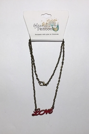 Gleeful Peacock Love Necklace - Front cropped