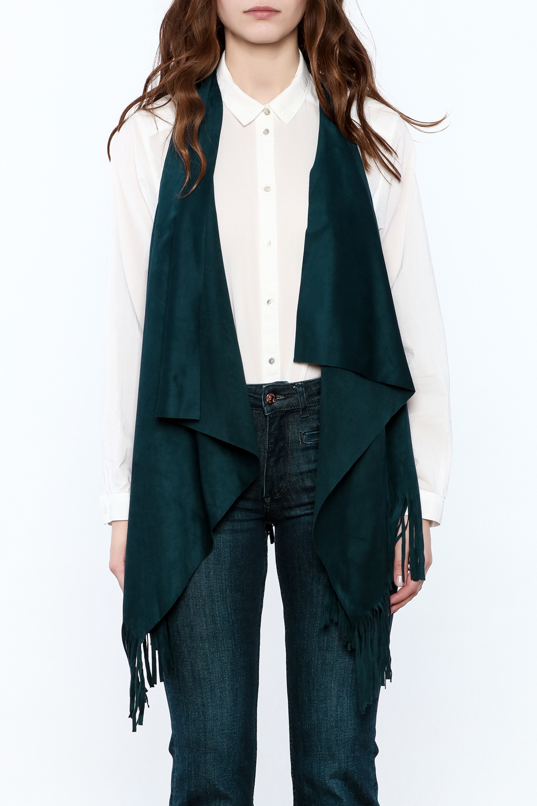 LOVE ON A HANGER Faux Suede Vest - Side Cropped Image