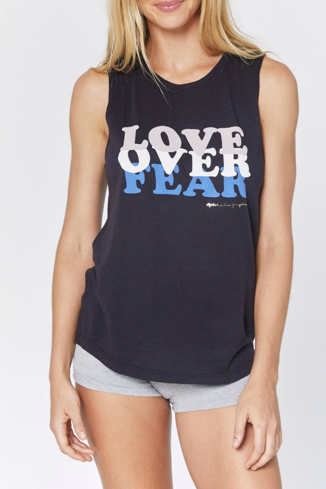 SPIRITUAL GANGSTER Love Over Fear Muscle Tank - Main Image