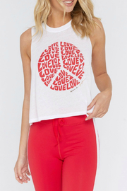 SPIRITUAL GANGSTER Love Peace Sign Crop Tank - Product Mini Image
