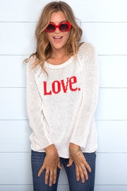 Wooden Ships Love Raglan Sweater - Front cropped