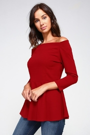2 Hearts Love Red Blouse - Side cropped