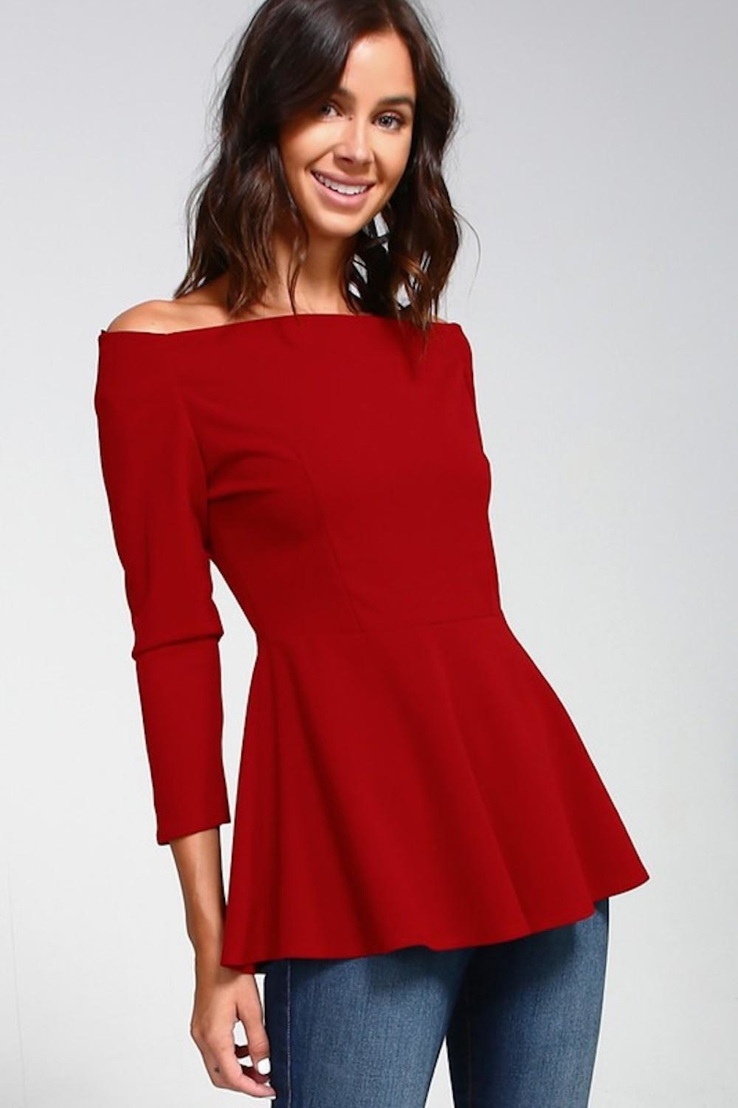 2 Hearts Love Red Blouse - Main Image