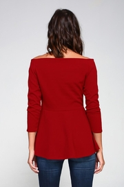 2 Hearts Love Red Blouse - Back cropped