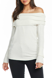 Chaser Love Rib Off Shoulder Tiered Ruffle Sleeve Sweater - Product Mini Image
