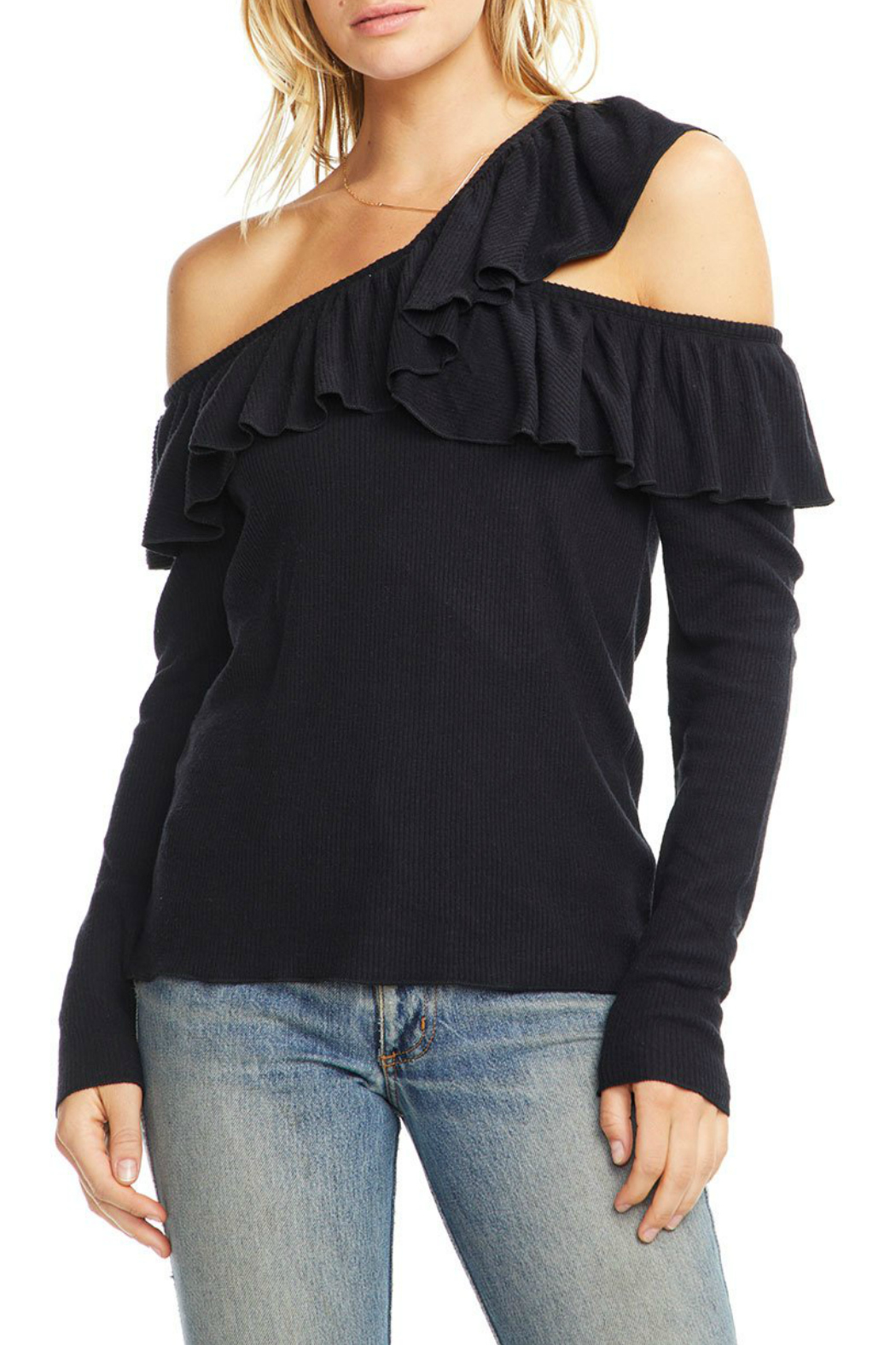 Chaser Love Rib One Shoulder Sweater - Main Image
