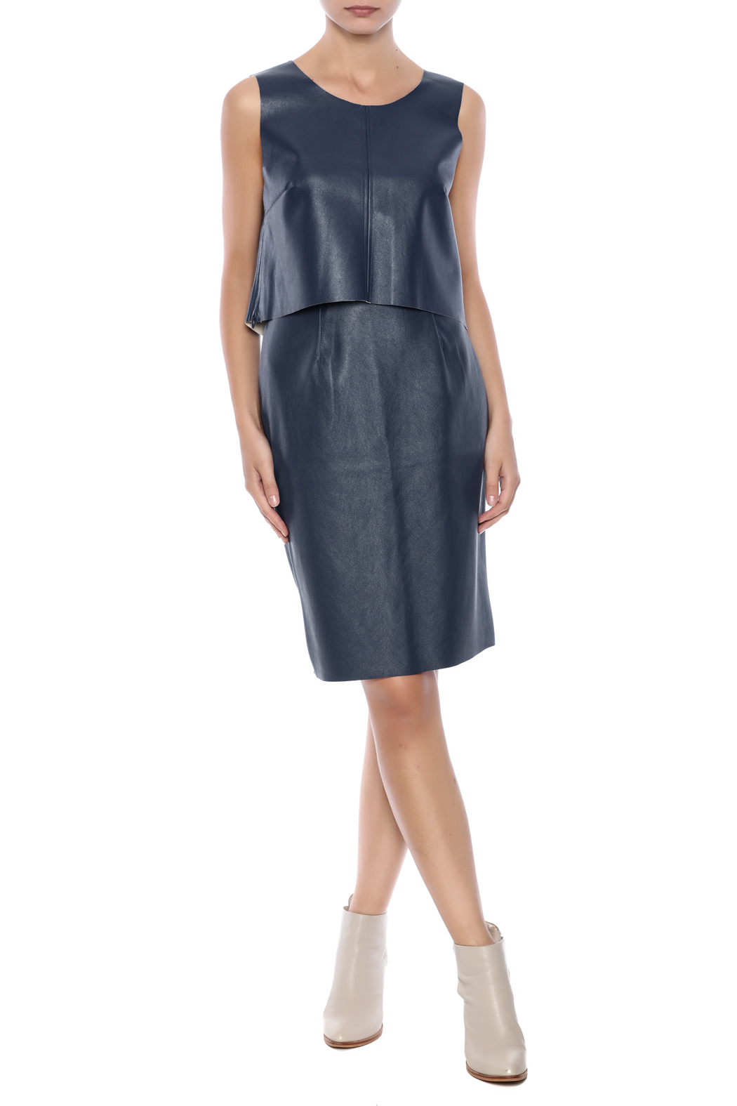 loveriche blue faux leather skirt from florida by