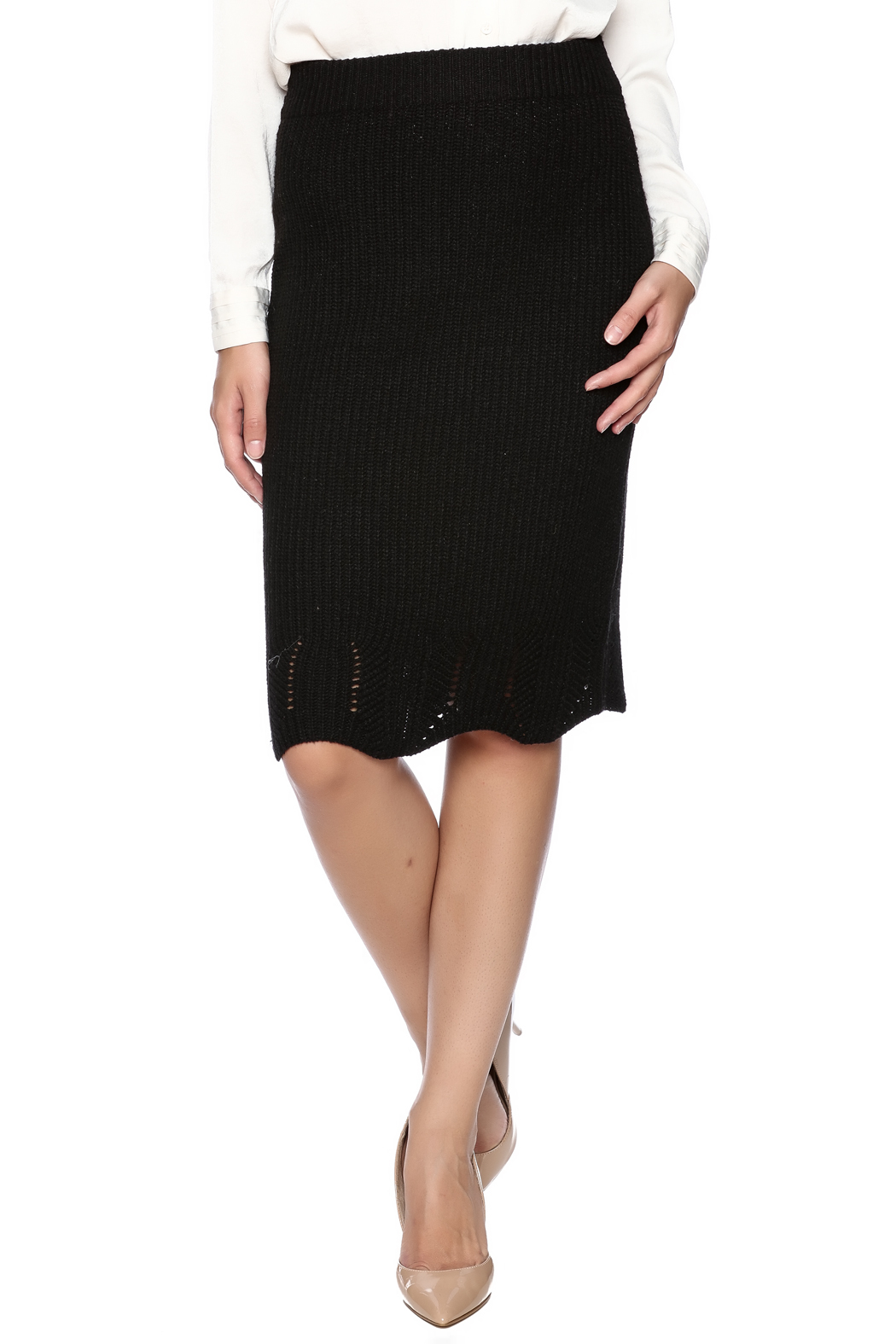LoveRiche Knit Skirt - Front Cropped Image