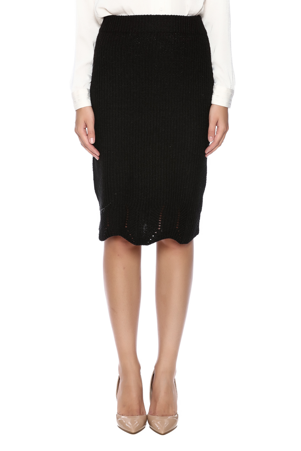 LoveRiche Knit Skirt - Side Cropped Image