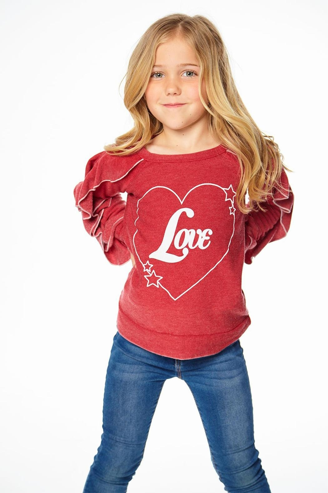 Chaser Love Ruffle Sleeve - Front Cropped Image