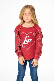 Chaser Love Ruffle Sleeve - Front full body
