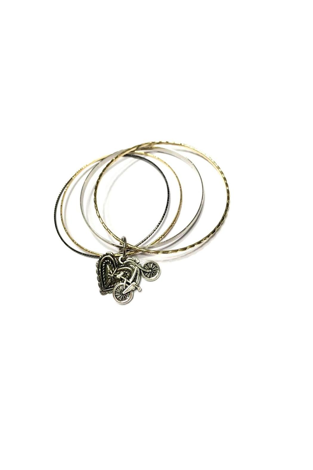 Love's Hangover Creations Bicycle Charm Bracelet - Side Cropped Image