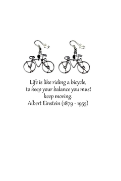 Love's Hangover Creations Bicycle Earrings - Alternate List Image