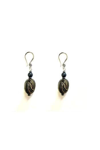 Love's Hangover Creations Black Gold Earrings - Main Image