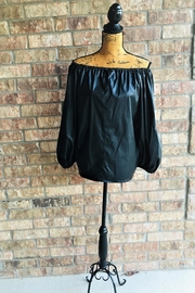 Love's Hangover Creations Black Off-Shoulder Top - Front cropped
