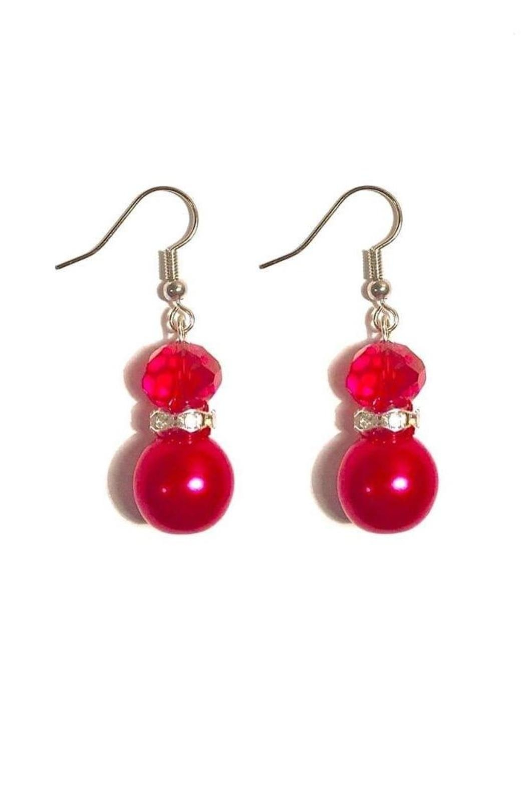 Love's Hangover Creations Blingy Red Earrings - Main Image