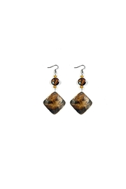 Love's Hangover Creations Brown Shell Earrings - Product Mini Image